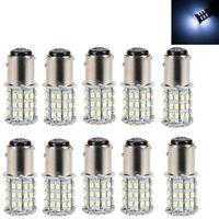10-Pack  White 1157 RV Camper Trailer 64SMD LED 1206 Interior Light Bulb US Hot