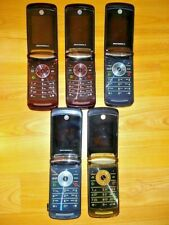 LOT 5x BROKEN MOTOROLA RAZR 2 V9 V9m V8 GSM HSPA CDMA UNLOCKED CELL PHONE PARTS