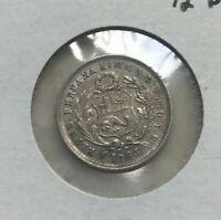 1863 YB Peru ½ Half Dinero - Silver