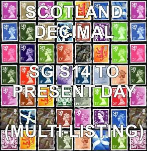GB 1971+ SCOTLAND Machin Definitives S Series (Multiple Listing) Unmounted Mint