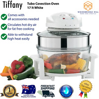 Tiffany Portable Electric 17L Turbo Convection Oven Multi Functional White New