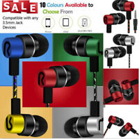 Universal 3.5mm Jack Portable In-Ear Stereo Earbuds Earphone For Smart Phone