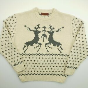 Abercrombie & Fitch Mens Vintage Pullover LARGE Wool Sweater Jumper Knit Crew