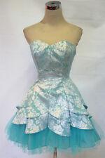 MASQUERADE $120 Seafoam / Silver Prom Party Dress 9