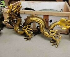 Large Chinese Feng shui Copper auspicious Dragon honorable Loong Decor Statue