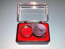 Einschlaglupe 21mm - Taschenlupe - Vergrößerung 20 Fach -  Verchromtes Gehäuse -