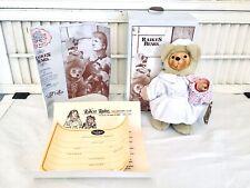 "Raikes Nena Nurse 8"" Wood Face Bear Limited Edition 2605/5000 w Tag Box & Coa"