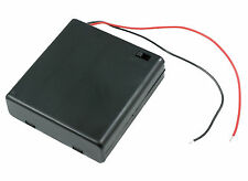 AA x 4 Enclosed Battery Holder Box with Switch 15cm Wires