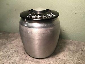 Vintage/Retro/Mid Century Kromex Aluminum Grease Canister, Kitchen
