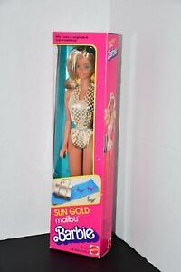 Mattel 1983 Sun Gold Malibu Barbie #1067 NIB