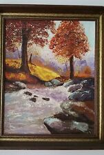 "Pati True ""Autumn"" ORIGINAL Oil Painting on Board Hand Signed"