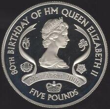 More details for 2006 machin portrait jersey hm queen eii silver proof five pounds|pennies2pounds