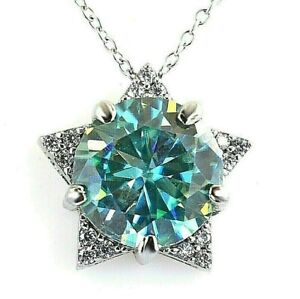 6.60 Ct Certified Blue Diamond Solitaire Pendant -Great Shine & Luster!
