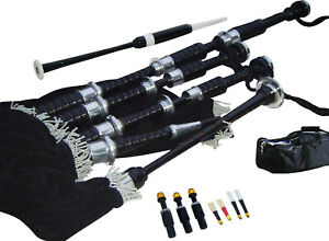 S.UK Scottish Great Highland Bagpipe (Beginners Complete Starter Package)