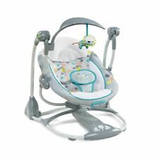 ConvertMe Swing-2-Seat Portable Swing - Ridgedale Grey with white