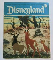1970s Disneyland Magazine #36 Oct 17 1972 w/ Disney Comics w/ Bambi Fire !