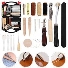 Caydo 59PZ Kit utensili manuali artigianali pelle per lavori cuoio cucito a mano