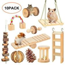 10X Small Animal Natural Toy Accessories Wooden Treat Mouse Hamster Parrot Rat