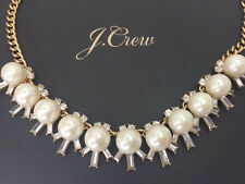 J Crew moonbeams Necklace NWT New statement Authen Bride bridesmaid wedding