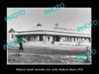 OLD LARGE HISTORIC PHOTO OF WAIKERIE SA, VIEW OF THE WAIKERIE HOTEL c1910