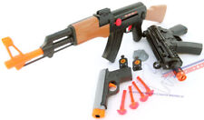 3x Toy Guns Friction AK-47 Toy Rifle Elec. MP5 w/ Sound FX Grey 9MM Dart Pistol