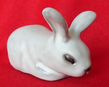 New ListingPod Pottery white Bunny Rabbit Figurine Edgecomb Maine Studio