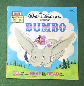 Dumbo Book and Cassette Walt Disney 1982 Disney's Classics
