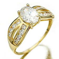 Sapphire Yellow Gold Filled Costume Rings