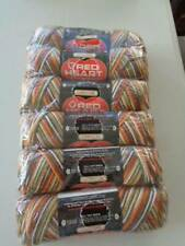 VINTAGE LOT OF 6 SKEINS  RED HEART YARN GREAT FALL COLORS SEALED