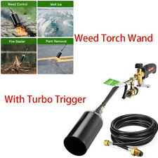 Weed Burner Weed Wand Weed Torch With Trigger Turbo Brass Valve UL Certificate