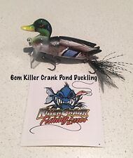 New Killer Crank 6cm Pond Shallow Diving Duck 20g Murray Cod/Bass Fishing Lure