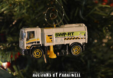 White Street Cleaner Sweeper Custom Christmas Ornament 1/64th Scale Adorno NEW!