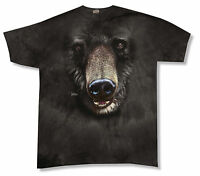 Mountain Bear Face Black  Tie Dye Mens Adult T Shirt Large New Official