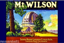 Sierra Madre Lamanda Park Mt. Wilson Lemon Citrus Fruit Crate Label Art Print