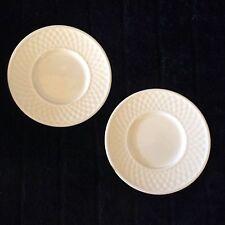Oneida Sakura Basketweave Bread Dessert Plates - Set of 2 - MINT