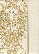 rc15078 ROBERTO CAVALLI doré Damas papier-peint rayé