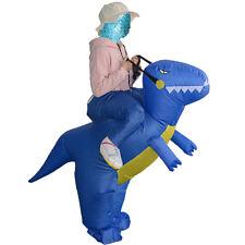 T-Rex Inflatable Dinosaur Costume Rider Women Men Halloween Blowup Suit