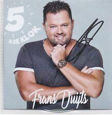 Frans Duijts-5 In De Klok Promo cd single gesigneerd