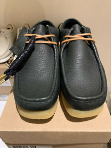 Limited Edition Clarks Originals Wallabee Black Natural Leather US Men New w/Box