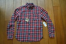 RRL Tradesman Red Grey Plaid Workshirt BNWT RRP 195€ triple needle chainstitched
