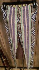 Topshop 8 Leggings NEW Yoga Club Aztec Tribal Pattern Stripes Black Harajuku HOT