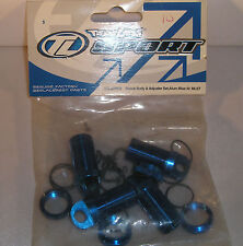TEAM LOSI R/C MODEL CAR PARTS LOSB0959 SHOCK BODY ADJUSTER BLUE 4PCS MLST BIN 1