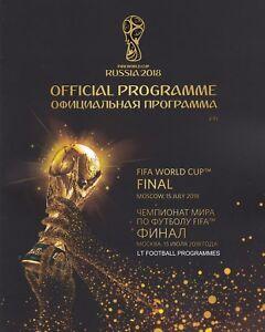 * 2018 FIFA WORLD CUP FINAL OFFICIAL MATCH PROGRAMME - FRANCE v CROATIA *