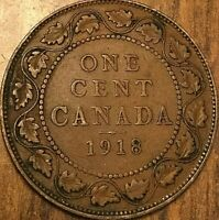 1918 CANADA LARGE CENT LARGE 1 CENT PENNY