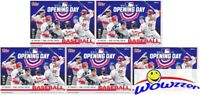 (5) 2019 Topps Opening Day Baseball Factory Sealed HUGE Blaster Box- HOT!