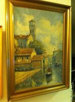 VENEZIA, Print of the 1860s Dutch oil. Vincent van Gogh's predecessor?
