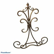 Easel Scroll Design Wrought Iron Book Stand Cookbook Plate Home Decor