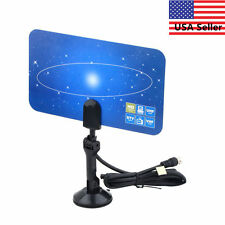 Digital Indoor TV Antenna HD VHF UHF Flat Design High Gain HDTV DTV Box Ready EM