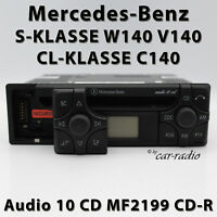 Original Mercedes Audio 10 CD MF2199 CD-R W140 Radio S CL Klasse C140 Autoradio