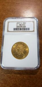 1907-D $10 Gold Eagle - NGC MS-61